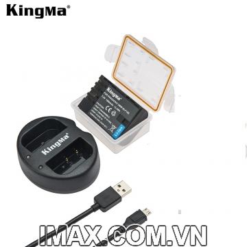 Bộ 1 viên pin và 1 sạc Kingma cho Panasonic DMW-BLF19