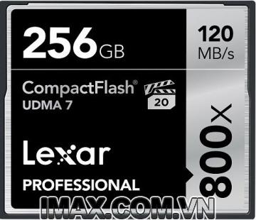 Thẻ nhớ CF Lexar 256GB 800X~120MB/s