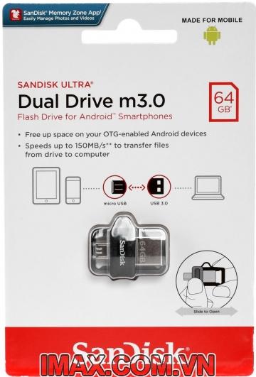 USB SanDisk Ultra 64GB Dual Drive m3.0