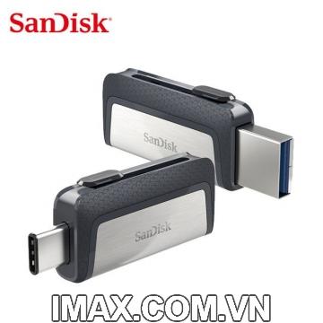 Sandisk USB 3.1 Type-C 64GB, 2 cổng: USB, Type C