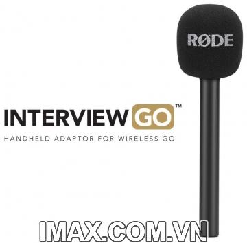 Tay cầm gắn micro Rode Interview Go cho Wireless Go