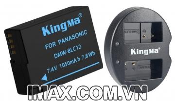 Bộ 1 pin 1 sạc đôi Kingma cho Panasonic DMW-BLC12