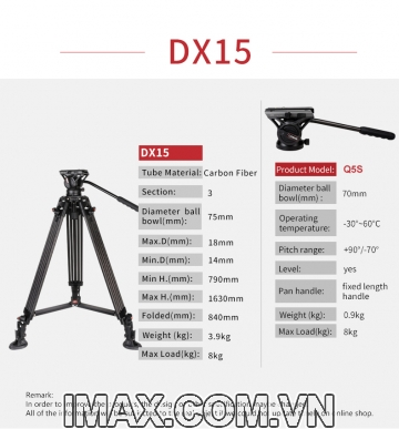 Chân máy ảnh Coman DX15Q5S
