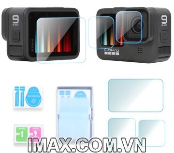 Tấm dán cường lực GoPro Hero 9 Black, Dán màn hình + ống kính