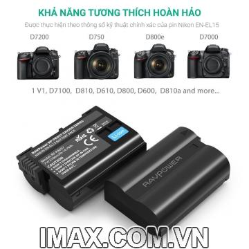 Pin máy ảnh RavPower for Nikon EN-EL15