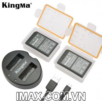 Bộ 2 pin 1 sạc đôi Kingma for Olympus BLS1/BLS5