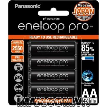 Pin sạc Panasonic Eneloop AA BK-3HCCE/4BT 2550mAh, Hàng chính hãng