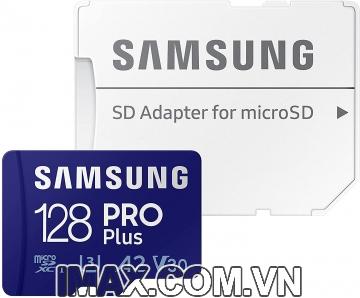 Thẻ nhớ MicroSD 128GB Samsung PRO Plus 160/120 MB/s (Bản mới nhất), Hàng chính hãng