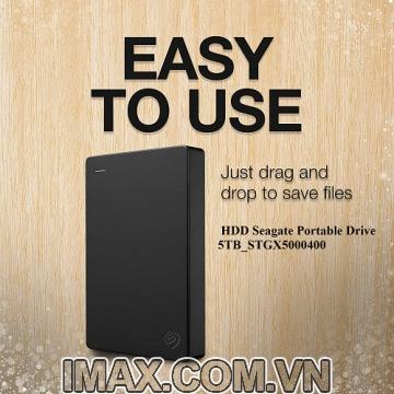 Ổ cứng di động HDD 5TB Seagate Portable Drive STGX5000400