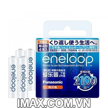 Pin sạc AAA Eneloop 750mAh, Vỉ 4 viên, Nhật nội địa