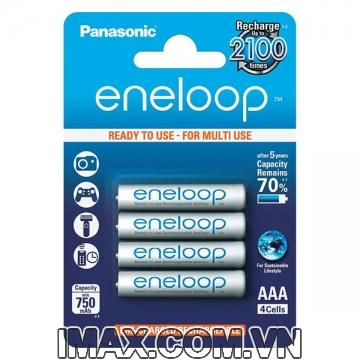 Pin sạc AAA Eneloop 750mAh, Vỉ 4 viên